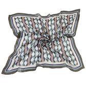 Christian Dior 優雅菱形條紋多彩大絲巾(灰綠)179005-2