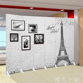 屏風隔斷客廳簡易移動折疊現代北歐簡約時尚酒店辦公室裝飾墻臥室QM  晴光小語
