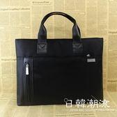 公事包/手拿包  手提包男女公事包辦公文件包帆布A4多層商務會議資料收納袋工作包