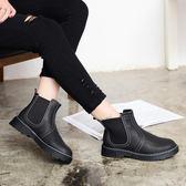 秋冬漆皮馬丁靴 文藝短靴一腳蹬加絨靴子《小師妹》sm678