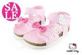 Hello kitty 童涼鞋 足弓型 歐風氣墊防水涼鞋I6759#粉紅 零碼出清◆OSOME奧森童鞋