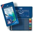 Faber-Castell輝柏 ART-GRIP創意工坊水彩色鉛筆-藍色精緻鐵盒裝12色組114212