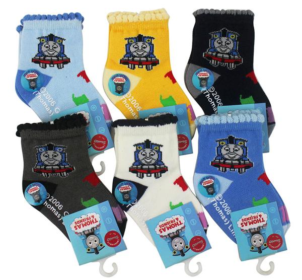 【卡漫城】 Thomas 襪子 9-11cm 三雙組 半統 童襪 ㊣版 適用1-2歲 兒童 湯瑪士 蒸汽 小火車 台灣製