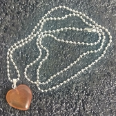 天然晶石 紅瑪瑙 心型水晶能量靈擺項鏈