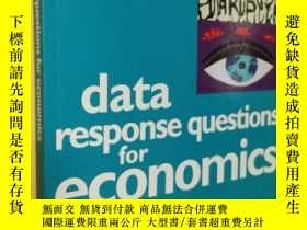 二手書博民逛書店英文原版罕見Data Response Questions for Economics.Alan Glanvill
