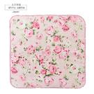日本毛巾-經典玫瑰刺繡小方巾-粉-玄衣美舖