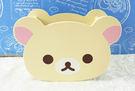 【震撼精品百貨】Rilakkuma San-X 拉拉熊懶懶熊~置物盒_木_方