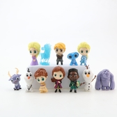 12款冰雪奇緣公仔 艾莎公主 雪寶 Q版擺件 蛋糕裝飾 模型玩具