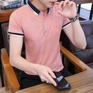 2021夏天短袖polo衫男裝有帶領子半袖T恤年輕人潮流翻領體桖上衣 8號店