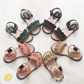 女童鞋涼鞋時尚韓版小公主羅馬鞋夏季軟底中大童沙灘鞋子 ◣怦然心動◥
