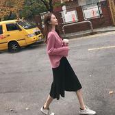 小香風秋冬名媛毛衣裙子兩件套裝氣質針織毛線半身長裙初秋時尚女
