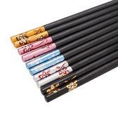 [618好康又一發]雙槍合金筷家庭筷酒店筷日式家用筷子5雙