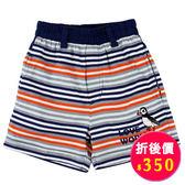 【愛的世界】鬆緊帶橫紋純棉短褲/1~2歲-台灣製- ★春夏下著