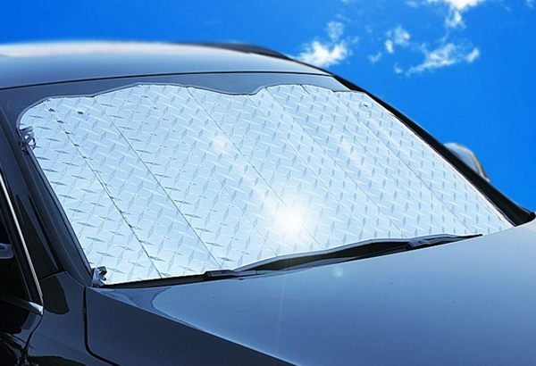 【鐳射遮陽擋】140*70cm汽車用前擋風玻璃遮陽罩5層加厚雷射防曬隔熱板降溫抗紫外線可折疊遮陽檔