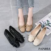 PAPORA小資女最愛方頭娃娃平底包鞋KM45黑/米/杏