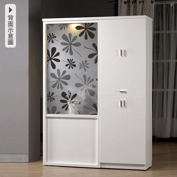 【森可家居】米洛斯4.7尺玄關屏風鞋櫃 7CM340-2 白色 北歐風