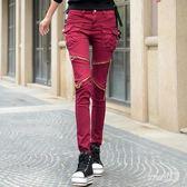牛仔褲 個性口袋拉鏈新款女款韓版顯瘦小腳褲長褲寬鬆哈倫褲潮 df8277【Sweet家居】