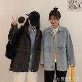 網紅上衣 新款韓版寬鬆秋季顯瘦復古港味牛仔衣初秋外套女ins 安妮塔小鋪
