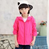 兒童運動外套 女童外套韓版兒童運動連帽開衫中大童洋氣春秋款上衣 寶貝計畫