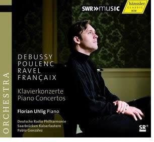 烏利格 德布西浦朗克拉威爾富蘭梭瓦鋼琴協奏曲 CD(購潮8)
