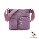 B.S.D.S冰山袋鼠 - 時光旅人 - 知性輕巧多口袋側背包 - 深芋紫【B519-U】