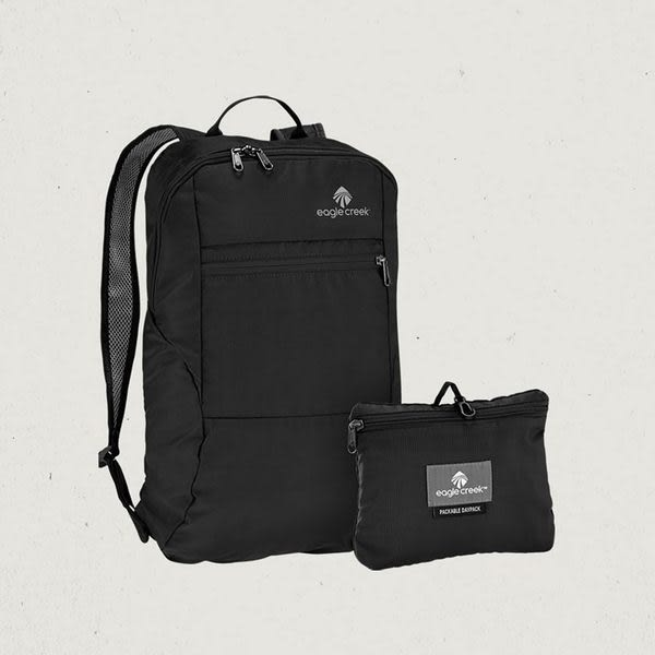 【Eagle Creek美國人氣旅遊配件】輕量折疊後背包 (黑)