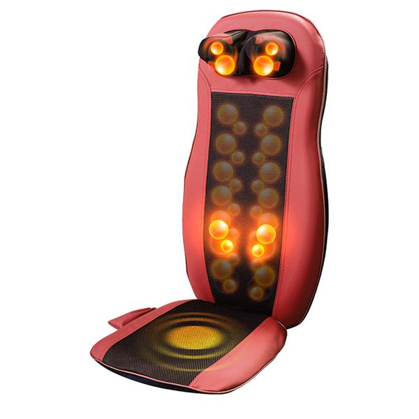 【Concern 康生】泰式SPA肩頸紓壓按摩椅墊(牡丹紅)