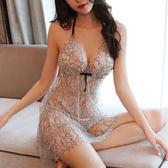 情趣睡衣 性感睡裙女秋透明薄沙吊帶短裙火辣成人內衣極度誘惑