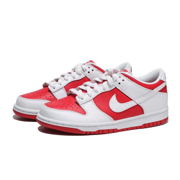 NIKE 休閒鞋 DUNK LOW UNIVERSITY RED GS 大學紅 紅白 女 (布魯克林) CW1590-600