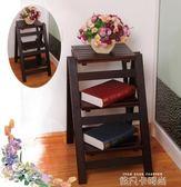 實木家用折疊梯多功能樓梯椅梯凳加厚室內登高小木梯簡易三步爬梯QM 依凡卡時尚