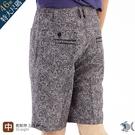 【NST Jeans】佩斯利花紋 腰果花 印度黑白民族印花短褲(中腰鬆緊帶) 398(25928)台灣製 特大尺碼46腰