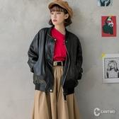 CANTWO男友風皮衣黑色款~秋冬新品上架網路獨家