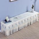 圣思娜 電視柜罩套防塵罩電視柜蓋布布藝蕾絲長方形客廳桌布蓋巾 小山好物
