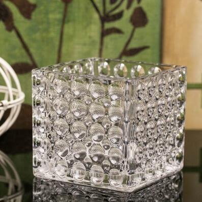 宜家風格水晶玻璃花瓶方缸水培花瓶綠蘿富貴竹花插小花瓶器皿 森雅誠品