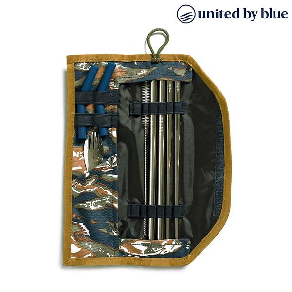 United by Blue 防潑水餐具收納包組 Utensil Kit 814-038 (印花款) / 休閒 旅遊 居家 撥水 環保吸管 餐具
