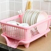 碗架收納置物架瀝水碗架廚房家用塑料收納盒放碟筷餐具盤子瀝水籃 「ATF艾瑞斯」