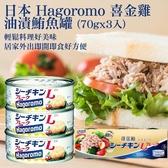 日本 Hagoromo 喜金雞 油漬鮪魚罐 (70gx3入)