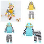 條紋嬰兒長袖套裝  耳朵帽T+長褲童裝 SK9288 好娃娃