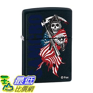 [美國直購] Zippo Lighter - Sons of Anarchy SAMCRO Black Matte ZCI011805 打火機