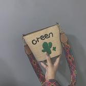 少女小包包女2021新款潮粗帶時尚韓版小花百搭斜挎可愛學生 「雙11狂歡購」