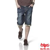 BOBSON 男款貓鬚刷破直筒牛仔短褲(173-52)