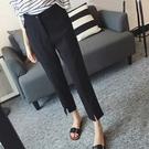促銷特價 新款梨形身材大碼女裝垂感休閑褲適合胯大粗腿顯瘦九分小腳褲