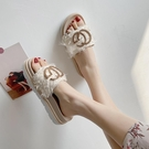仙女拖鞋 涼拖鞋女外穿2020夏季厚底百搭時尚布面少女松糕仙女網紅增高拖鞋