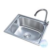 水槽 不銹鋼水槽單盆洗菜盆廚房家用洗碗菜洗手池大小台下台上水槽T