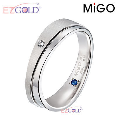 MiGO鋼飾♥柔情♥鋼飾戒指(男)