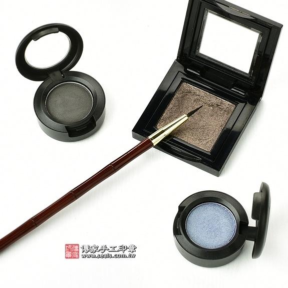 傳家全手工精製紅紫檀木胎毛化妝刷1支,胎毛眼線筆(小支)
