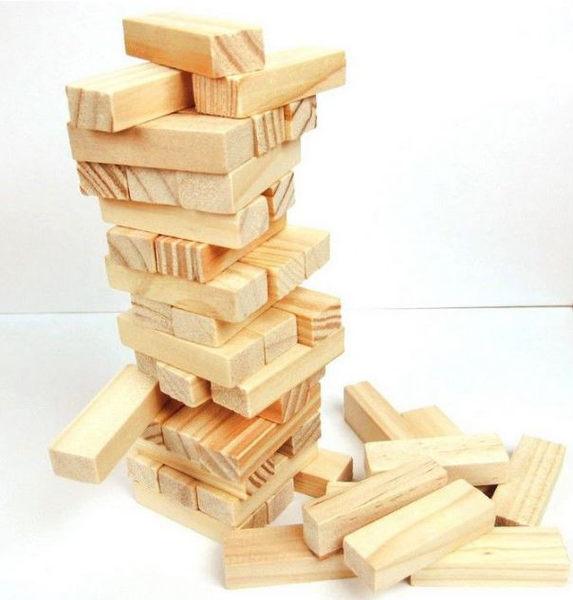 兒童木製玩具-精品小號原木色疊疊高積木/疊疊樂 59元