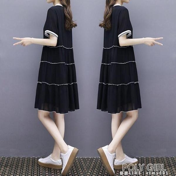 歐洲站2021夏裙子輕熟風學生韓版娃娃裙棉麻時尚洋氣收腰連身裙女 夏季新品