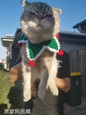 寵物口水巾 貓咪口水巾圣誕貓圍脖小奶貓圍脖狗狗圍兜飾品寵物編織圍脖貓項圈 米家