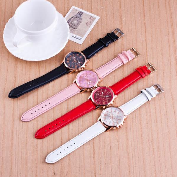 [24H 現貨快出] 韓國 韓版 極簡 休閒 三眼 大錶盤 手錶 女錶 男 女 錶 皮帶 情侶 對錶 手錶